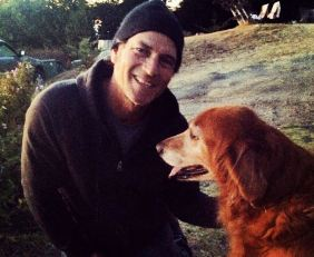 Tommy with dog